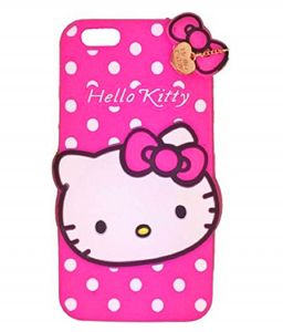 Tbz Cute Hello Kitty Soft Rubber Silicone Back Case Cover For Apple iPhone 6 - Pink