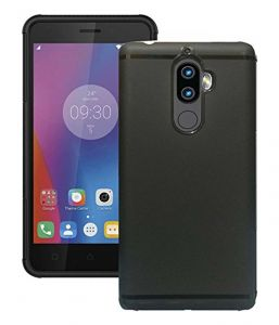 Tbz Tpu Slim Back Case Cover For Lenovo K8 Plus - Black