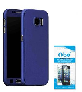 Tbz 360 Degree Protection Front & Back Case Cover For Lenovo K8 Plus With Tempered Screen Guard -blue