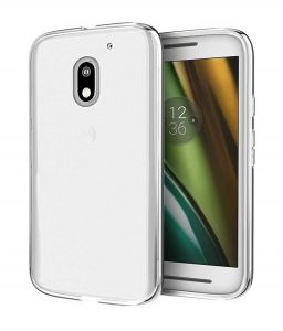 Tbz Transparent Silicon Soft Tpu Slim Back Case Cover For Moto E3 Power