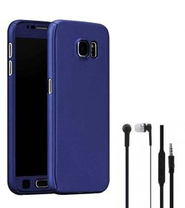 Tbz 360 Protection Front & Back Case Cover For Lenovo K8 Note With Earphone -blue