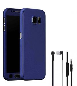 Tbz Front & Back Case Cover For Lenovo K8 Note With Earphone -blue