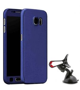 Tbz 360 Degree Protection Front & Back Case Cover For Lenovo K8 Plus With Mobile Car Mount Holder Stand -blue