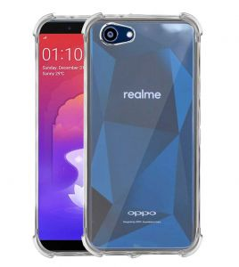 Tbz Transparent Bumper Corner Tpu Case Cover For Realme 1