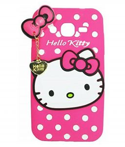 Tbz Cute Hello Kitty Soft Rubber Silicone Back Case Cover For Samsung Galaxy Grand I9082 - Pink