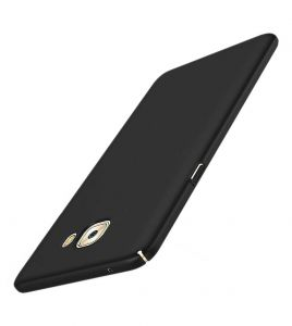 Tbz Sides Protection Hard Back Case Cover For Samsung Galaxy J7 Max - Black
