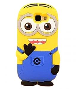 Tbz Cartoon Minion Soft Rubber Silicone Back Case Cover For Samsung Galaxy J7 Max