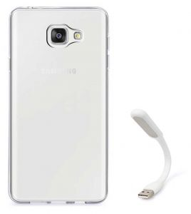 Tbz Transparent Silicon Soft Tpu Slim Back Case Cover For Samsung Z4 With Flexible USB LED Light Lamp