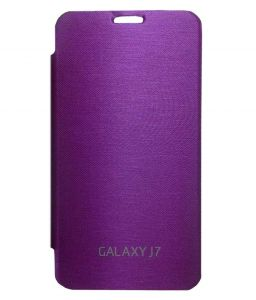 Mobile Accessory Combos - TBZ Flip Cover Case for Samsung Galaxy J7 - Puple