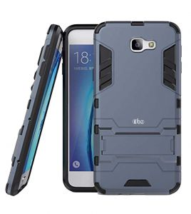 Tbz Tough Heavy Duty Shockproof Armor Defender Dual Protection Layer Hybrid Kickstand Back Case Cover For Samsung Galaxy J7 Max -blue