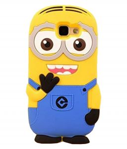 Tbz Cartoon Minion Soft Rubber Silicone Back Case Cover For Samsung Galaxy On Max