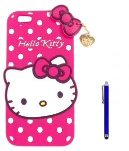 Tbz Cute Hello Kitty Soft Rubber Silicone Back Case Cover For Vivo V5 With Stylus