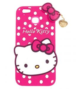 Tbz Cute Hello Kitty Soft Rubber Silicone Back Case Cover For Vivo V7 Plus