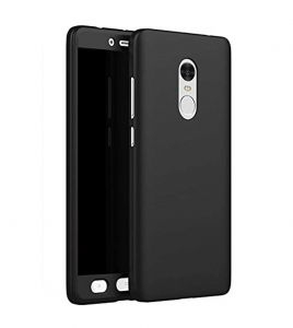 Tbz 360 Protection Front & Back Case Cover For Lenovo K8 Note - Black