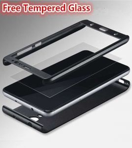 Tbz Front & Back Case Cover For Lenovo K8 Plus - Black