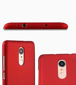 Tbz Front & Back Case Cover For Vivo V7 Plus -red