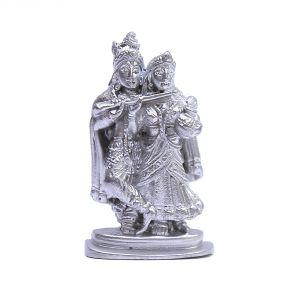 Buy Vivan Creation White Metal Lord Radha Krishna Idol With Cow