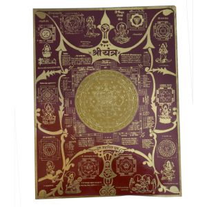 Shri Yantra Copper Plated By Pandit Nm Shrimali