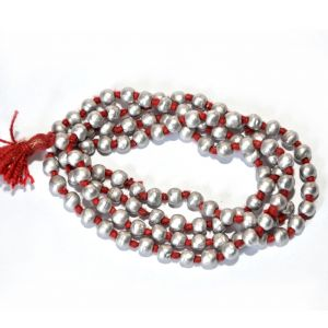Pandit Nm Shrimali Parad Mala (4mm Size)