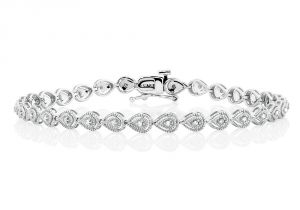 Sheetal Impex 1.50 Cts Real Natural Solitaire Diamond Bracelet In 14 Kt White Gold B00007