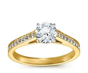 Sheetal Impex 1.10 Cts Real Natural Solitaire Wedding Diamond Ring In 14 Kt Yellow Gold R00264