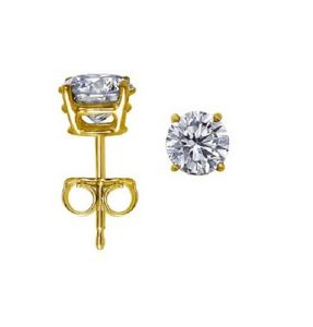 Sheetal Impex 0.60 Cts Beautiful Solitaire Diamond Earrings Vvs Clairty G Colour With Certificate In 14 Kt Gold E00051