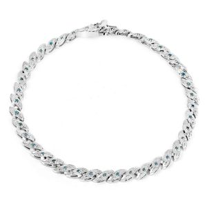 Sheetal Impex Certified 0.72 Tcw Real Natural Diamonds 14kt White Gold Bracelet - B00055