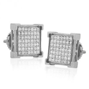 Sheetal Impex Certified 0.50 Tcw Real Natural Diamonds 925 Silver Stud Earring - E00014