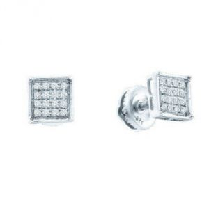 Sheetal Impex Certified 0.15 Tcw Real Natural Diamonds 925 Silver Earring - E00019
