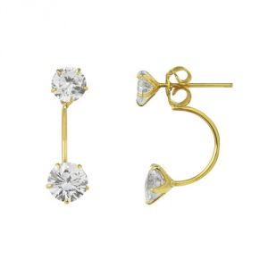Sheetal Impex Certified 1.20 Tcw Real Natural Brilliant Cut I1 Clarity Diamonds 10kt Yellow Gold Earring - E00147