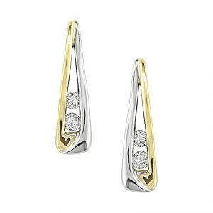 Sheetal Impex 14k Yellow Gold Certified 0.20tcw Real Diamond Hoop Earring