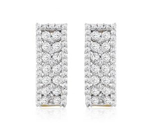 Sheetal Impex Certified Designer Natural Diamonds 14kt White Gold Earring
