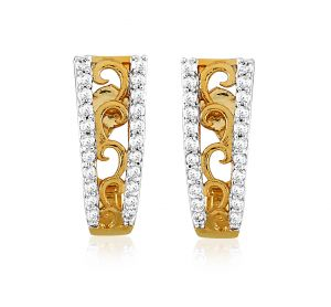 Sheetal Impex Certified New Designer Real Natural Diamonds 18K Gold Earring