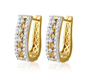 Sheetal Impex Certified New Designer Natural Diamonds Yellow Gold Earring