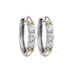 Sheetal Impex Certified Awesome Natural Diamonds 14kt White Gold Earring