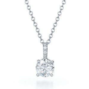 Sheetal Impex Certified 0.40 Tcw Real Natural Diamonds 14kt White Gold Pendant - P00154