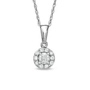 Sheetal Impex Certified 0.50 Tcw Real Natural Diamonds 14kt White Gold Pendant - P00155