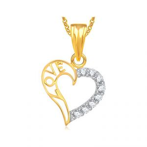 Diamond Pendants, Sets - Real Diamond Certified Heart Shape Pendant 10K Yellow Gold