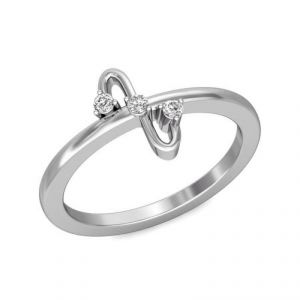 Diamond Rings - Sheetal Impex Certified 0.10 CTW Real Natural Diamonds 14Kt White Gold Ring - R00094