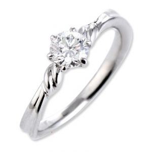 Sheetal Impex Certified 0.50 Carat Real Natural Round Cut I1 Clarity Diamond 14kt White Gold Ring - R00207