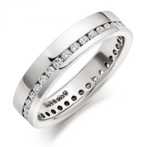 Sheetal Impex Certified 0.70 Tcw Real Natural Round Cut Si2 Clarity White Diamonds 14kt White Gold Ring - R00285