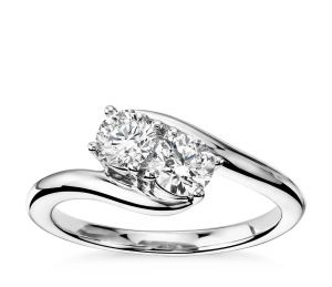 Sheetal Impex Certified 0.60 Ctw Real Natural Round Cut Vs2 Clarity Diamonds 14kt White Gold Ring - R00304