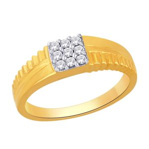 Sheetal Impex Certified 0.45 Tcw Real Natural Round Cut Si2 Clarity Diamonds 14kt Yellow Gold Ring - R00378
