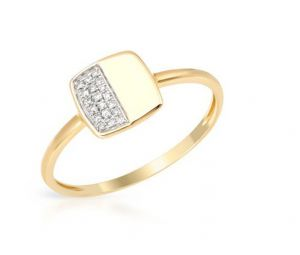 Sheetal Impex Certified 0.30 Tcw Real Natural Round Cut Si2 Clarity Diamonds 14kt Yellow Gold Ring - R00382