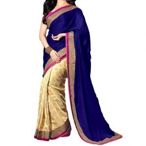 Kia Fashions Tamanna Blue Color Georgette Saree