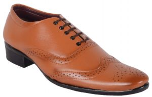 George Adam Mens Tan Designer Brouges Shoes