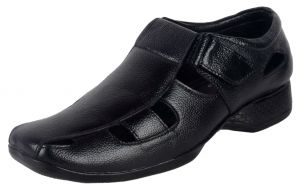 Menswear ,Mens Footwear ,Men's Accessories  - George Adam all leather mens sandal (Code - 074 black)