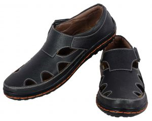 George Adam Mens Black Sandal