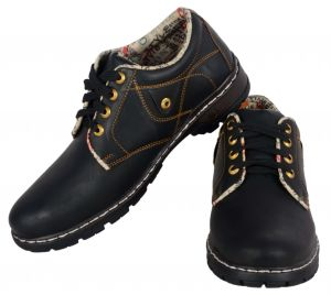 George Adam Black Mens Casual Shoes