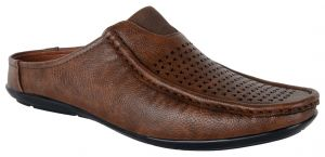 Sandals (Men's) - George Adam brown mens SLIP ON loafer SANDAL